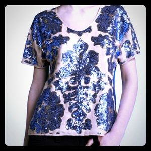 Tracy Reese Sequin Top